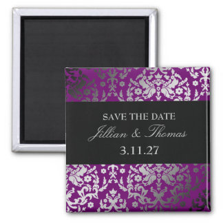 311-Dazzling Damask Extraordinary Purple Magnet