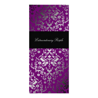 311 Dazzling Damask Extraordinary Purple Rack Card