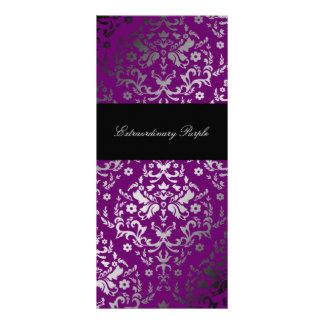 311 Dazzling Damask Extraordinary Purple Custom Rack Cards