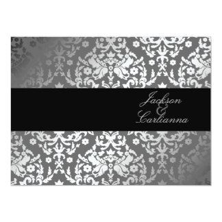 311 Dazzling Damask Gray Storm 6.5 x 8.75 Card