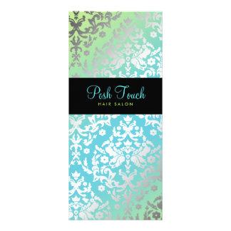 311 Dazzling Damask Turquoise & Lime Black Full Color Rack Card
