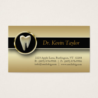 311 Dental Molar Business Card Gold Metallic