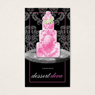 311-Dessert Diva Monogram | Liquorice Business Card