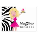311 Dollface Desserts Blondie Zebra Large Business Card