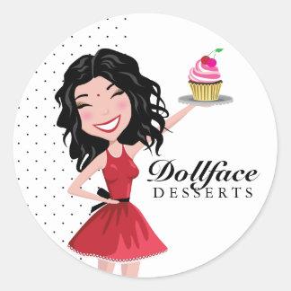 311 Dollface Desserts Indie Round Sticker