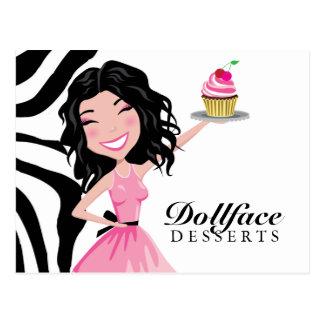 311 Dollface Desserts Kohlie Zebra Postcard