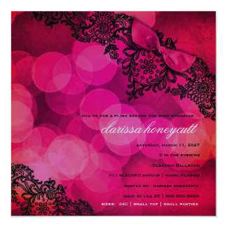 311 Dream in Lace Bachelorette Invite Metallic Sil
