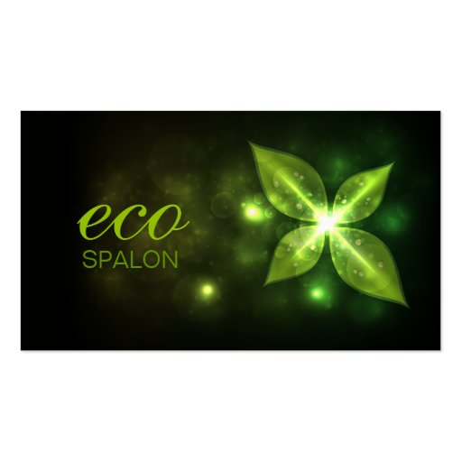 311 Eco Leaf Premium Pearl Business Card