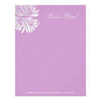 311-Exotic Floral   Purple Letterhead
