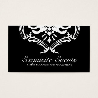 311 Exquisite Damask Black Business Card