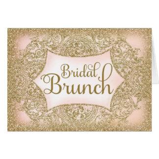 311 Faux Glitter Bridal Brunch Script Card