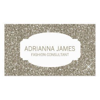 311 Faux Gold Sparkle Glitter Double-Sided Standard Business Cards (Pack Of 100)