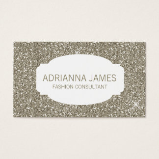 311 Faux Gold Sparkle Glitter Business Card