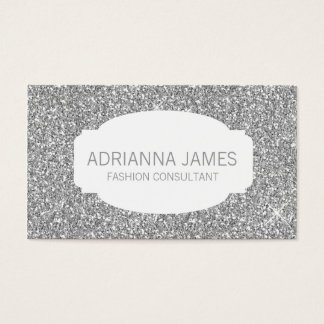 311 Faux Silver Sparkle Glitter Business Card