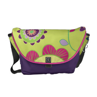 311 Floral Print Lime Courier Bags