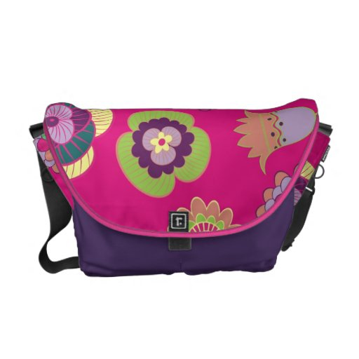 311 Floral Print Pink Courier Bags