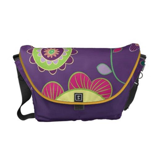 311 Floral Print Purple Commuter Bag