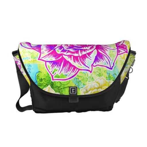 311 Floral Sunshine Rickshaw Messenger Bag