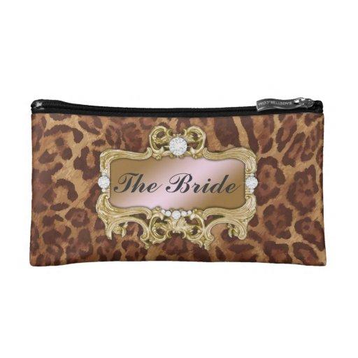 311 Glam Crazy Bride Leopard or DIY Clutch Cosmetic Bags