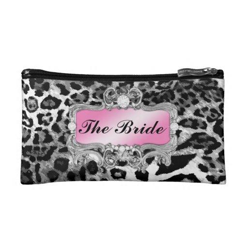 311 Glam Crazy Bride Leopard or DIY Clutch Cosmetic Bag