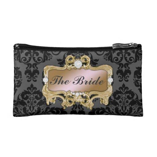 311 Glam Crazy Bride Pink Gold or DIY Clutch Makeup Bag