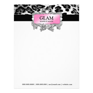 311 Glam Crazy Letterhead Leopard