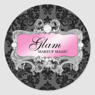 311 Glam Crazy Sticker Black Damask