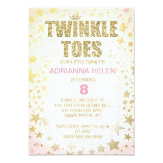 311 Glitter Twinkle Toes Dancer Invitation