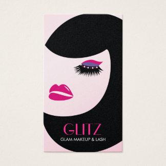 311 Glitz Lash Makeup Hot Pink Purple Shadow Business Card