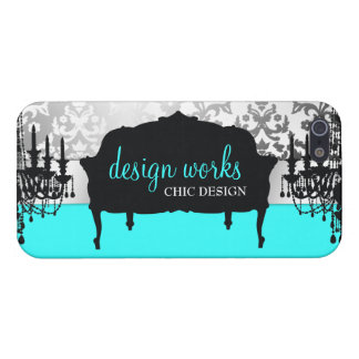 311 Glitzy Interiors Aqua iPhone 5 Covers