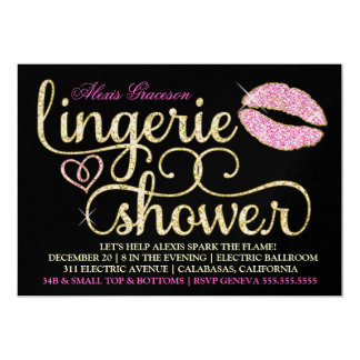 311 Glitzy Sparkle Bachelorette Blac Kiss Metallic Card