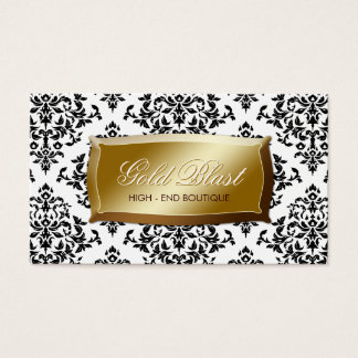 311 Gold Blast Damask Business Card