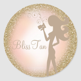 311 Gold Glitter Spray Tan Sticker