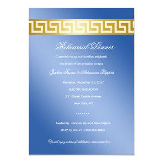 311 Golden Blue Greek Key Card