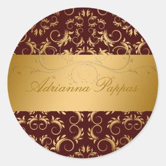 311-Golden Divine Chocolate Classic Round Sticker