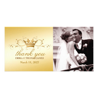 311-Golden Divine Crown |  Thank You Photo Photo Card Template