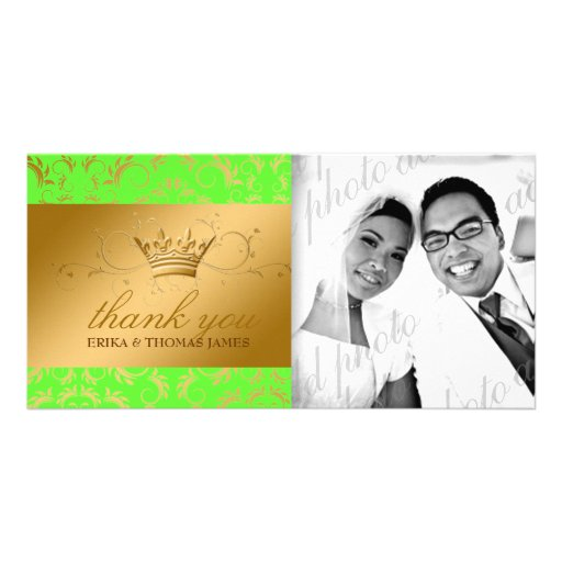 311-Golden diVine Electric Lime Thank You Photo Photo Card