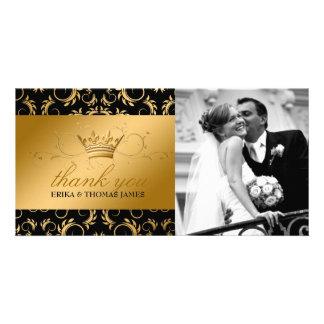 311-Golden diVine Noir Thank You Photo Card