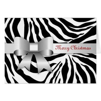 311-Golden Red Zebra Photo Christmas Card