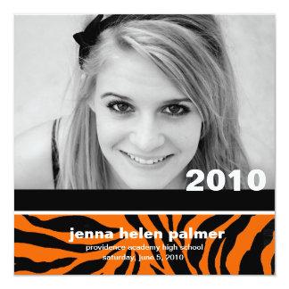 311-Graduation invitation du faire-part |Tiger