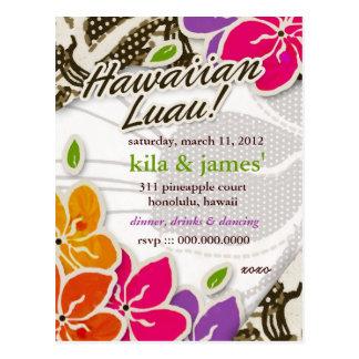 311 HAWAIIAN LUAU KILA INVITATION POSTCARD
