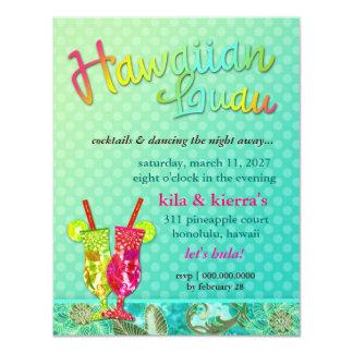 311 Hawaiian Luau Turquoise Card