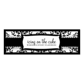 311 Icing on the Cake Black White Tage Business Card Templates