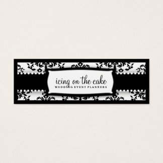 311 Icing on the Cake Black White Tage Mini Business Card