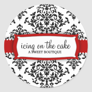 311 Icing on the Cake Cherry Round Sticker