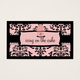 311 Icing on the Cake Cupcake Sweet Icing Pink Business Card