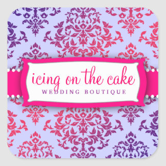 311 Icing on the Cake Pink & Lavender 2 Square Sticker
