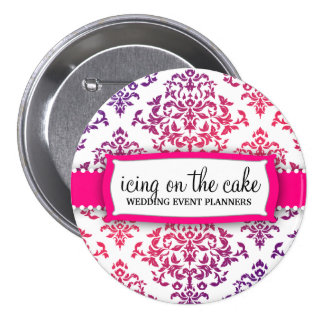 311 Icing on the Cake Pink Lavender 3 Inch Round Button
