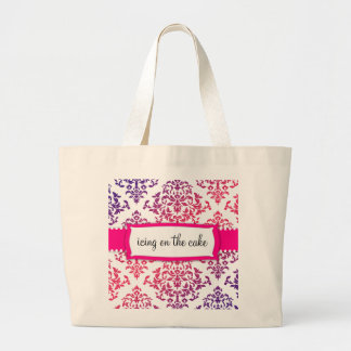311 Icing on the Cake Pink Lavender Tote Bags