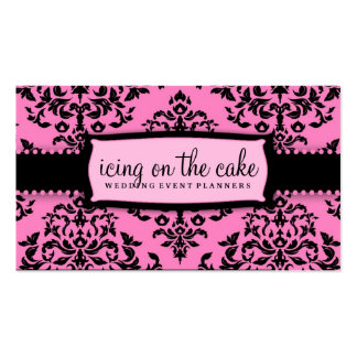311 Icing on the Cake Pink Liquorice Double-Sided Standard Business Cards (Pack Of 100)